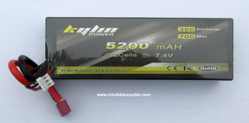 Kylin 7.4v 5200MAH  35C LIPO Hard Shell LIPO Battery