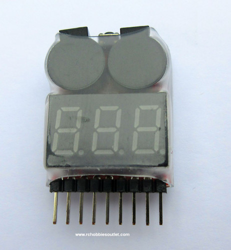 LIPO Low Voltage Buzzer Alarm and Voltage Tester
