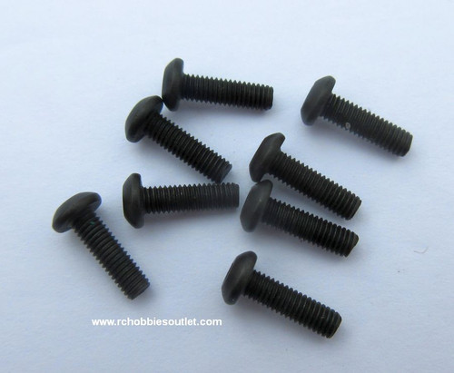50100 Cap Head  Hex Machine Screws 3*10 mm  8 Pieces
