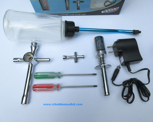 RC Nitro Starter Kit with  Glow Plug  Igniter / Charger For HSP, Redcat, etc.