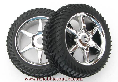 81035 Silver Wheel 1/8 SCALE (2 wheels)