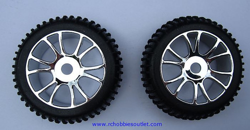 85746 Wheels Complete  with Silver Rim HSP Redcat , HIMOTO ETC