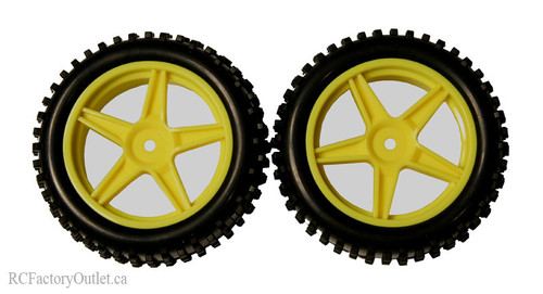 06010 1/10 Scale Tire & Rim Yellow HSP ATOMIC
