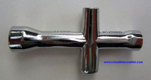 80132 Small Cross Wrench 4mm, 5mm, 5.5mm, 7mm