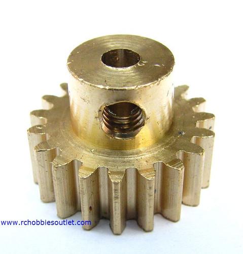 11179 Brass Pinion / Motor Gear 19 Teeth -- 18mm