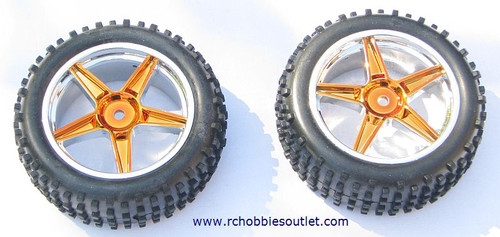 06010 1/10 Scale Tire & Rim Gold  HSP ATOMIC