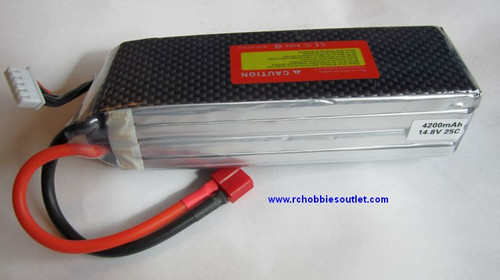 14.8V 4200 mAh 4 cell  25C LIPO RC Battery