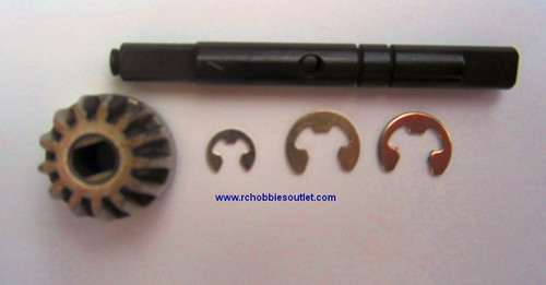 03015 Drive Gear Shaft +E-Clips  for 1/10 scale