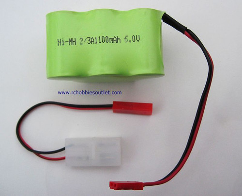 02155  6 VOLT 1100MAH RECHARGEABLE BATT & 03027 ADAPTER