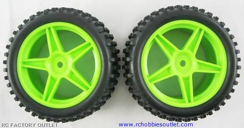 06010 1/10 scale Tire & rim Green HSP ATOMIC