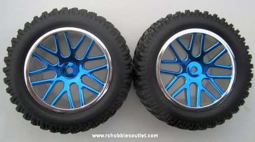 15520 15502 Wheels --Tire & Blue Rim  for Short Course Truck
