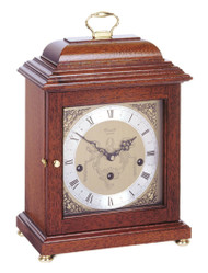 C4011CH - Comitti of London - The Basket Top Mahogany Westminster Chime Mantel Clock