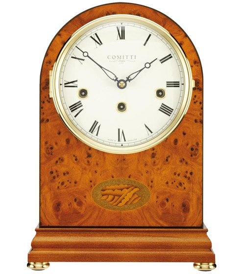 c4402ch comitti of london the regency yew westminster chime mantle clock - Mantle Clock