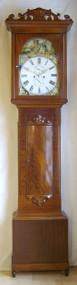 Circa 1860 Flame Mahogany Longcase Clock