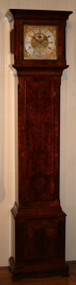 Circa 1900 Burr Walnut Longcase Clock