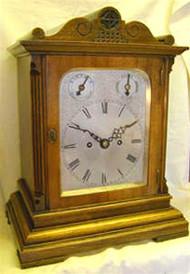 Circa 1900 Winterhalder & Hoffmeier Fusee Bracket Clock
