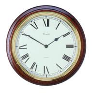 C036Q - Comitti Mahogany Wall Clock