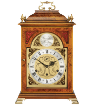 C4112TCH - Queen Anne Walnut Bracket Clock