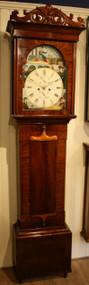 Flame Mahogany Longcase Clock - Circa 1840