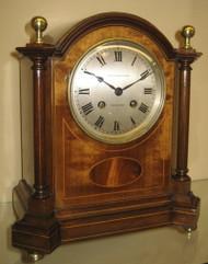 French Mahogany Striking Mantle Clock