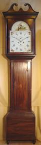 J Allan of Kilmarnock Mahogany Longcase Clock
