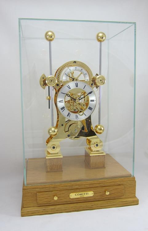 S5816G  - Comitti of London Navigator Clock  - Special Edition Oak Base