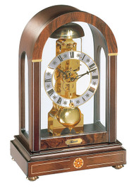 22712-030791 - Hermle Stratford 14-Day Walnut Skeleton Mantel Clock