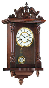 70091-030141 - Hermle Walnut Finish Piccadily Wall Clock