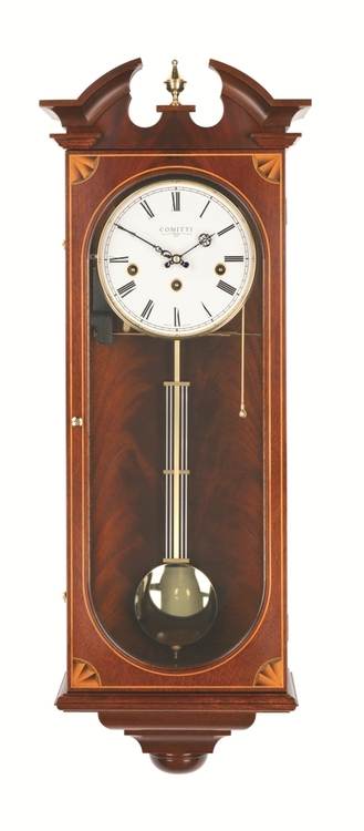 C3062CH - Comitti of London - The Sheraton Mahogany Wall Clock
