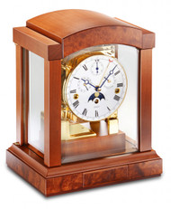 1242-41-02 - Kieninger Cherry Mantel Clock Front View