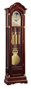 0128-23-01 - Kieninger Walnut Grandfather Clock Front