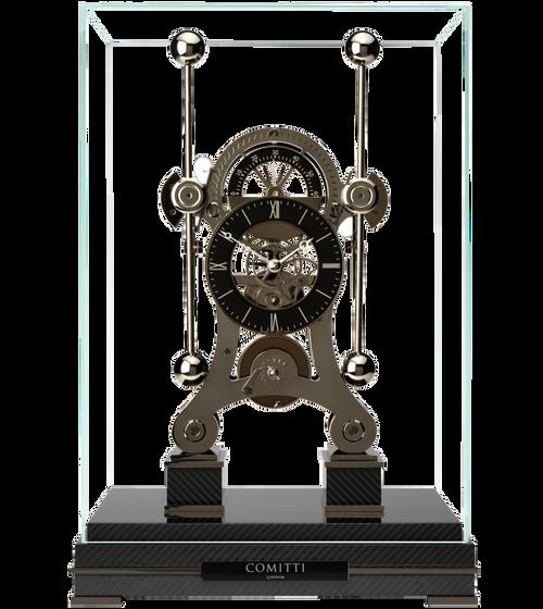S5666B - Comitti Black Nickel Plated Navigator Clock