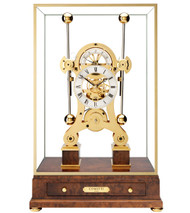 S5216G - Comitti Gold Plated Navigator Clock Front View