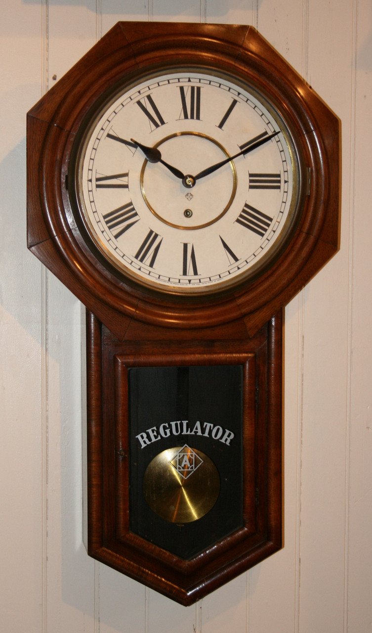 Circa 1900 Ansonia Drop Dial Wall Clock Glenbryde Quality