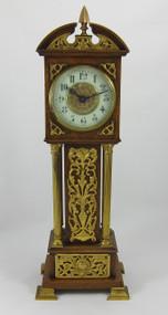 Victorian Oak Miniature Longcase Clock
