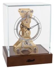 23047-020762 - Hermle Skeleton Mantel Clock - Dark Walnut
