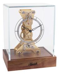 23047-080762 - Hermle Skeleton Mantel Clock - Natural Walnut