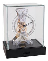 23051-747762 - Hermle Skeleton Mantel Clock - Rhodium / Black
