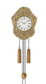 WU 1110  Helmut Mayr Brass Wall Clock - Front view