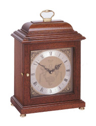 C4011Q- Comitti of London - The Basket Top Mahogany Mantel Clock