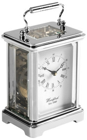 1415 - Woodford Obis 8 Day Carriage Clock - Chrome