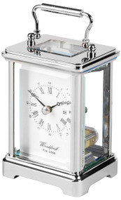 1432 - Woodford Obis Quartz Carriage Clock - Chrome