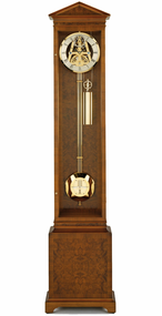 S1201G - Comitti of London Greenwich Burr Walnut Floor Clock