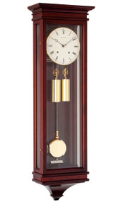 R1650-M - Helmut Mayr Regulator Wall Clock - Mahogany Finish