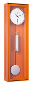 70991-T10761 - Hermle Month Running Regulator Wall Clock - Orange