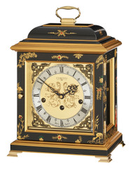 C4613TCH-B - Comitti of London Georgian Bracket Clock - Chinoiserie (Black)