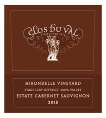 Clos du Val Hirondelle Vineyard Cabernet Sauvignon Stag's Leap 2015