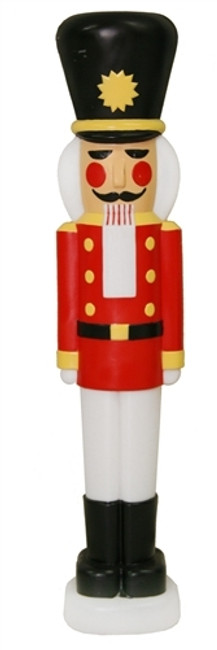 "40"" Nutcracker Lighted Blow Mold Decoration C1335"