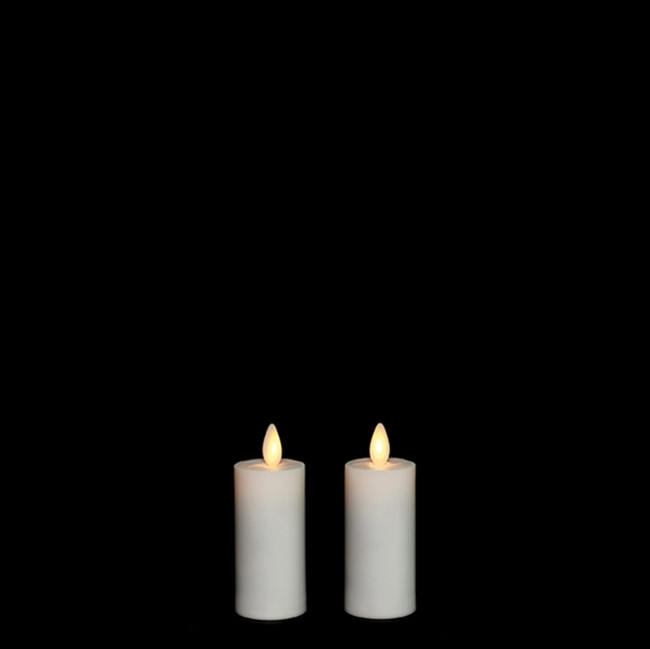 """Liown 1.5"""" x 3"""" Set of 2 Moving Flame Votive Battery Candle 17777"""