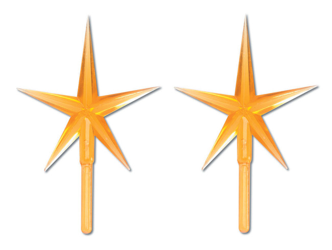 2 Pack Gold Ceramic Tree Plastic Replacement Star P0681